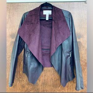 Flyaway Faux Leather Plum Jacket